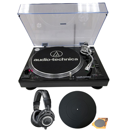 Audio-Technica Professional Stereo Turntable w/ Recording Piano + M50X Studio Headphones