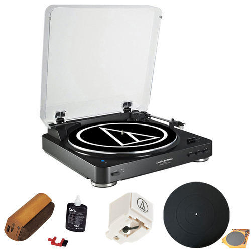 Audio-Technica Fully Automatic Bluetooth Wireless Stereo Turntable - Black w/ Cleaning Kit