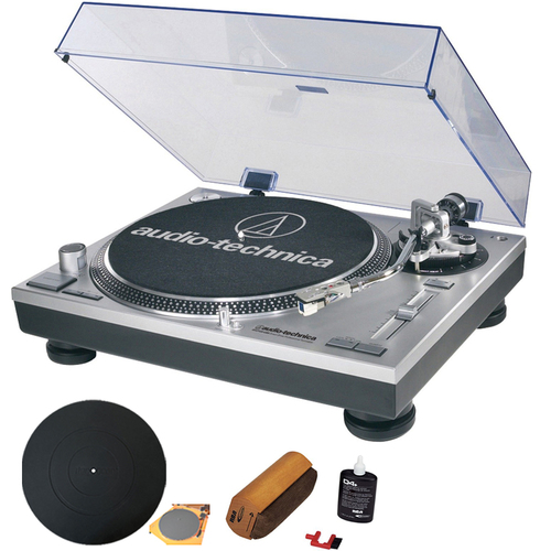 Audio-Technica ATLP120USB Professional Stereo Turntable w/ USB LP to DIG With RCA Turntable Cle