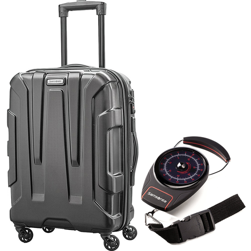 Samsonite Centric Hardside 24` Luggage Black with Luggage Scale
