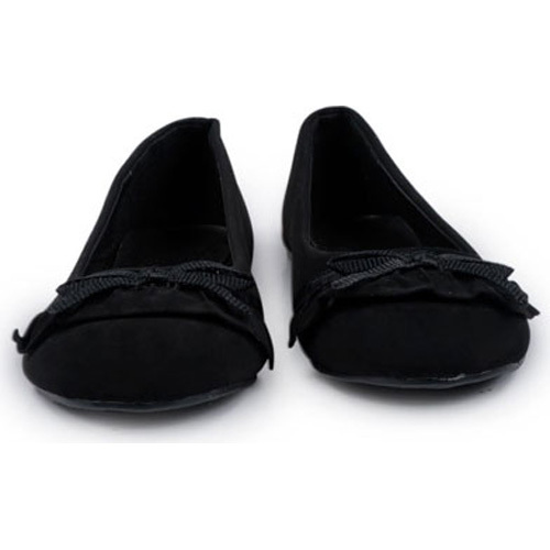 Lane Bryant Black Flat Womens Shoe with Bow Size 10