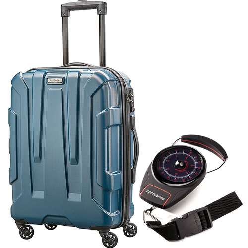 Samsonite Centric Hardside 28` Luggage Teal with Luggage Scale
