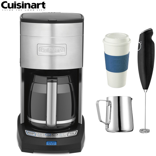 Cuisinart DCC-3650FR Extreme Brew 12Cup Coffee Maker (Refurbished) w/Coffee Drinker Bundle