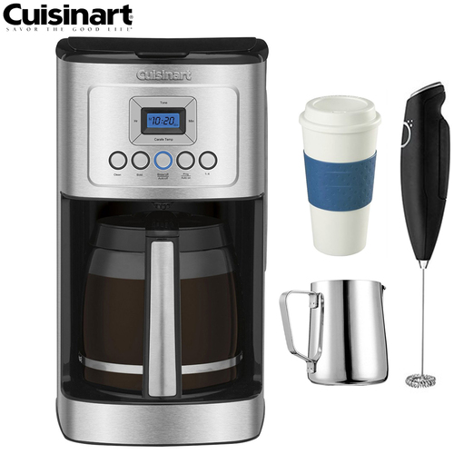 Cuisinart DCC-3200 14-Cup Programmable Coffeemaker (Refurbished) w/ Coffee Drinker Bundle