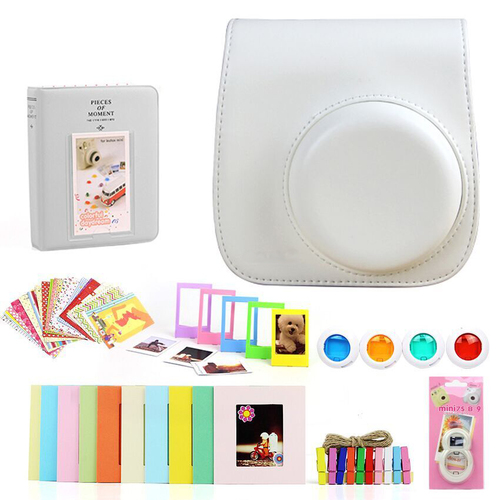 Deco Gear Accessories Bundle for Fujifilm Instax Mini 8/9, White