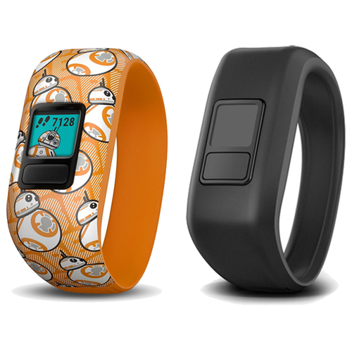 Garmin Vivofit Jr 2 with Two Stretchy Bands (Star Wars BB-8 Club & Black)