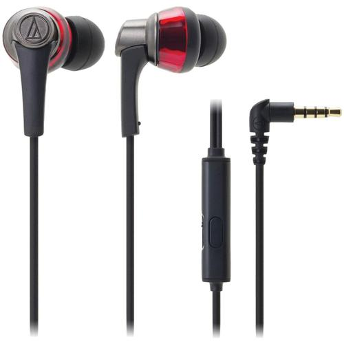 Audio-Technica ATH-CKR5iS SonicPro In-Ear Headphones with In-line Mic & Control (Red)