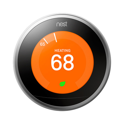 Learning Smart Thermostat (3rd Generation, Stainless Steel) T3007ES