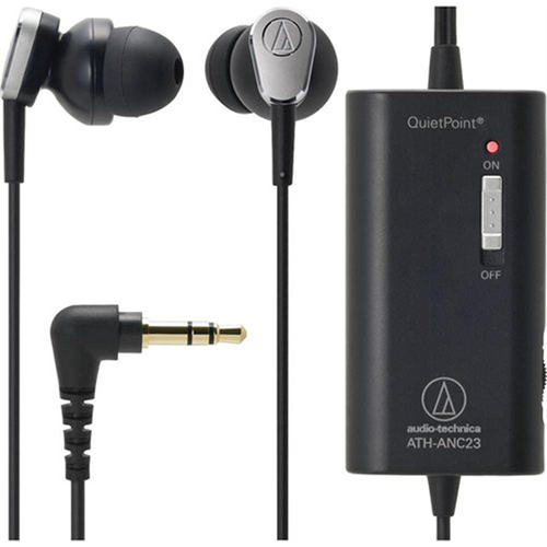 ATH-ANC23 QuietPoint Active Noise-Cancelling In-Ear Headphones - Open Box