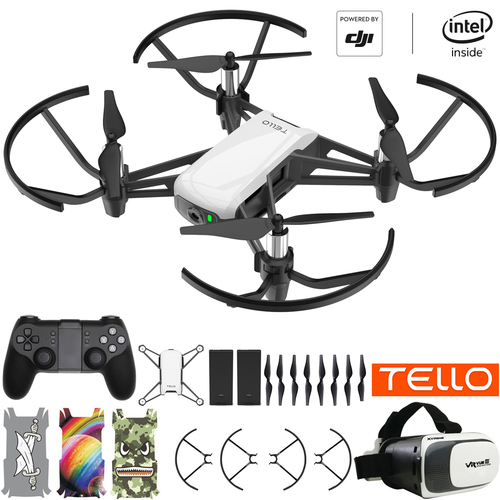 DJI Tello Quadcopter Drone VR HD Video Bundle With Extra Battery & Remote Controller