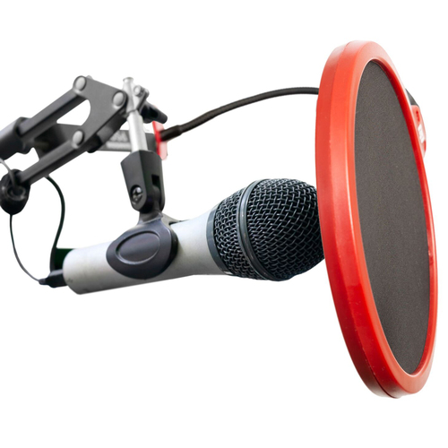 Universal Pop Filter Microphone Wind Screen with Goose Neck Mic Stand Clip