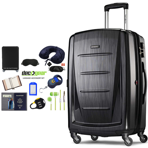 Samsonite Winfield 2 Fashion HS Spinner 20` Anthracite + Luggage Accessory Kit