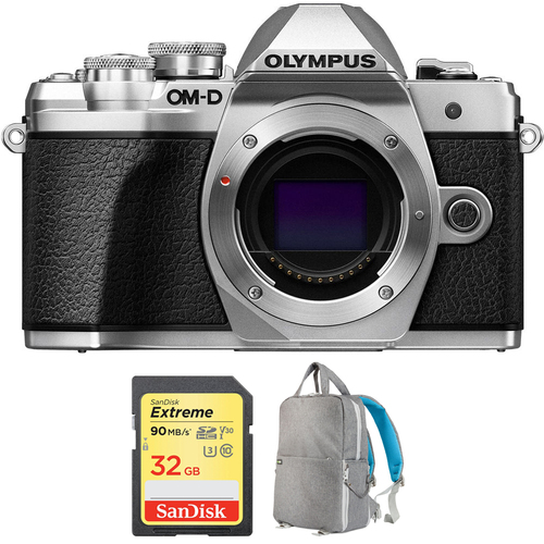 Olympus OM-D E-M10 Mark III Mirrorless Micro 4/3 Digital Camera Body + 32GB Card Bundle