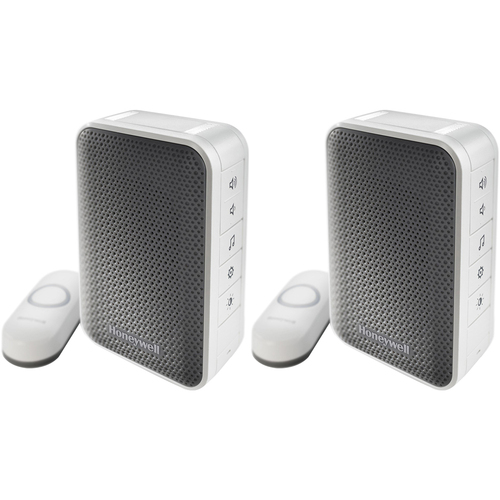 Honeywell Series 3 Portable Wireless Doorbell/Door Chime and Push Button 2 Pack