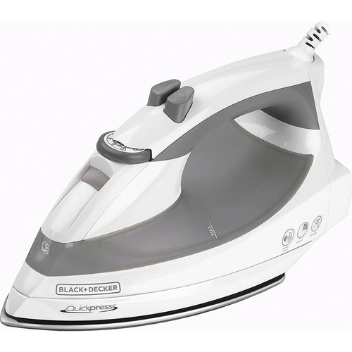 Black & Decker Quickpress Iron with Smart Steam Technology, Stainless Steel Soleplate (OPEN BOX