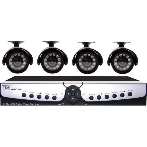 Night Owl Apollo-45 4 channel H.264 VDR Kit with 500GB HD, 4 Night Vision Cameras