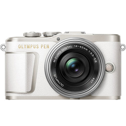 Olympus PEN E-PL9 Pearl White Body, Silver 14-42mm F3.5-5.6 EZ Lens Kit (OPEN BOX)
