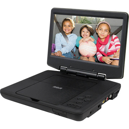 RCA Portable DVD Player 9` Swivel Display, Black Certified Refurbished (OPEN BOX)