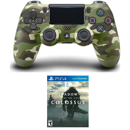 Sony DualShock 4 Wireless Controller for PS4 Camouflage + Shadow of the Colossus