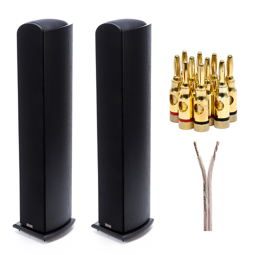 Pioneer Elite Andrew Jones Floorstanding Speaker 2 Pack + Plugs & Speaker Wire
