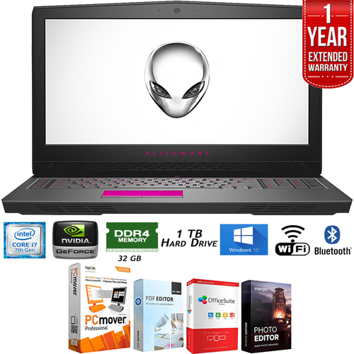 Alienware AW17R-47352SLV 17` QHD Intel i7-7820HK Laptop+Extended Warranty Pack