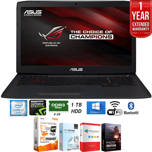 Asus ROG 17.3` GeForce GTX 860M, Core i7- Gaming Laptop + Extended Warranty Pack