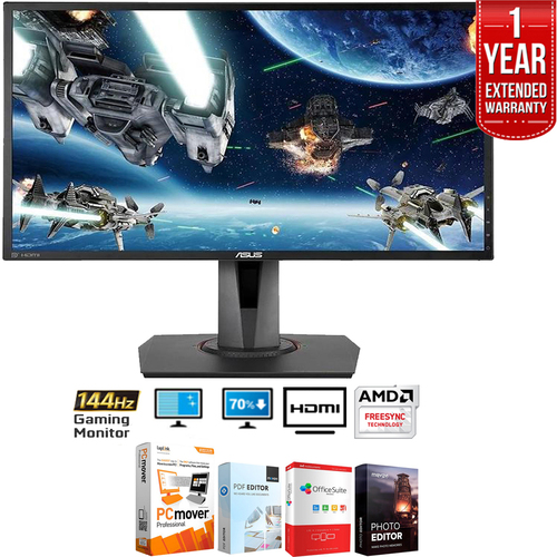 Asus 24` 144Hz FHD FreeSync Gaming 3D Monitor - MG248Q + Extended Warranty Pack