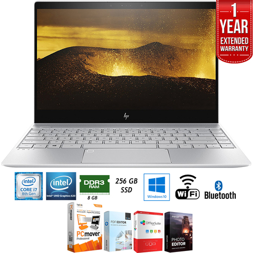 Hewlett Packard 13-ad120nr ENVY 13` Intel i7-8550U 8GB Touch Laptop + Extended Warranty Pack