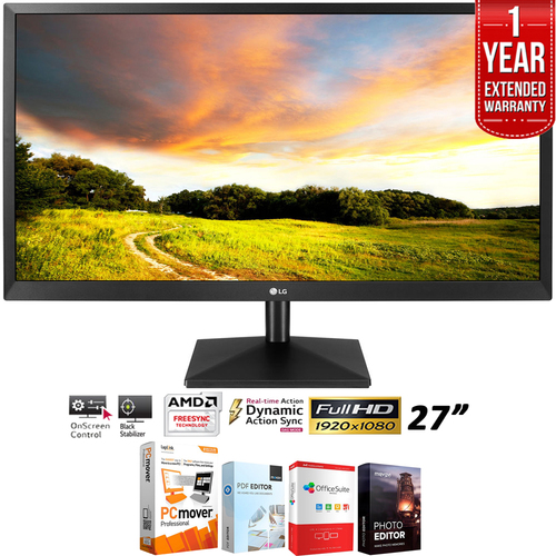 LG 27`IPS LED Monitor 1920 x 1080 16:9 27MK400HB + 1 Year Extended Warranty Pack
