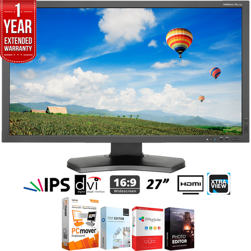 NEC Monitor PA272W-BK 27-Inch Screen LED-Lit Monitor + Extended Warranty Pack