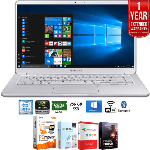 Samsung NP900X5N-X01US 15` Notebook 9 Intel i7-7500U 16GB Laptop+Ext. Warranty Pack