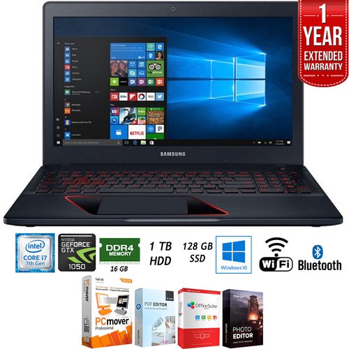 Samsung 15.6` Odyssey Intel i7-7700HQ 128GB Gaming Laptop + Extended Warranty Pack