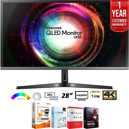 Samsung 28` 16:9 UH750 QLED 4K Ultra HD Monitor + Extended Warranty Pack