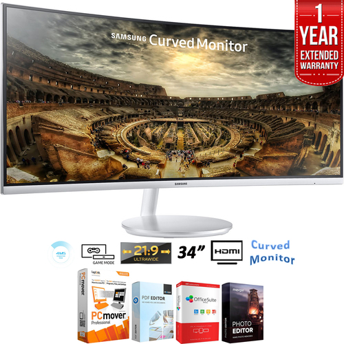 Samsung 34` CF791 Curved 21:9 Widescreen Monitor + Extended Warranty Pack