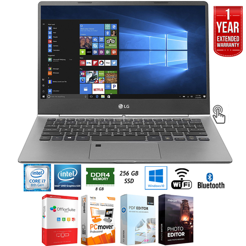 LG gram 13.3` Intel 8th Gen i7-8550U Ultra-Slim Laptop + Extended Warranty Pack