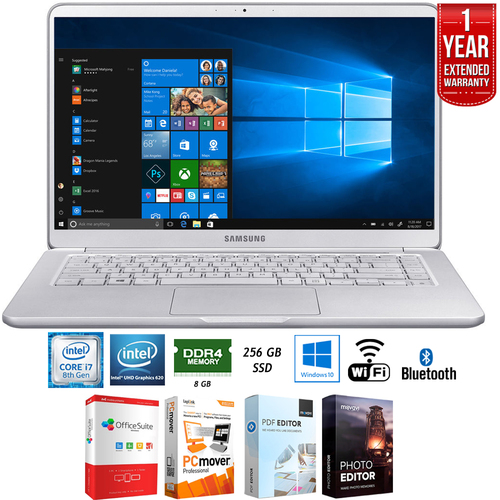 Samsung Notebook 9 15` 8GB Intel i7-8550U Laptop + Extended Warranty Pack