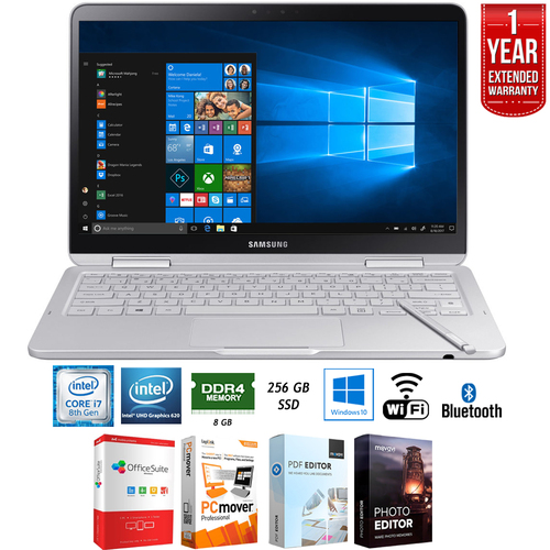 Samsung Notebook 9 13.3` 8th Gen Intel i7-8550U 2-in-1 Laptop + Extended Warranty Pack