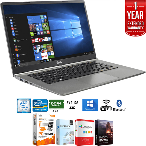 LG 14z970-A.AAS7U1 14` Intel i7-7500U 8GB Touch Laptop+Ext. Warranty Pack