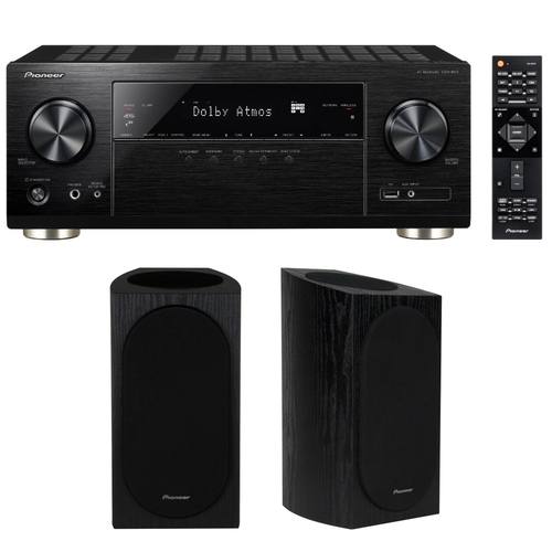 Pioneer 7.2-Channel Network AV Receiver w/ Dolby Atmos + Bookshelf Speaker Pair