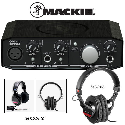 Mackie Onyx Artist 1-2 2x2 USB Audio Interface w/Headphones