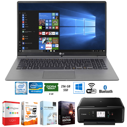 LG gram 15.6` Ultra-light Notebook Intel i5-7200U + Software +Printer Bundle