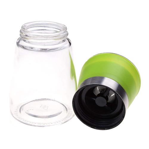 Salt Mill, Spice Mill and Pepper Grinder, Stainless Steel with Glass Bottle