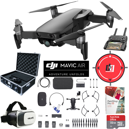 DJI Mavic Air Fly More Combo Onyx Black Drone Pro Photo Edit Case VR Set Landing Pad