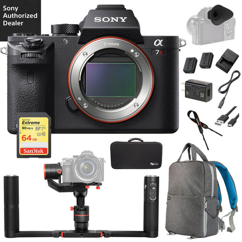 Sony a7R II Full-frame Mirrorless Camera with Feiyutech a1000 Gimbal Pro Bundle
