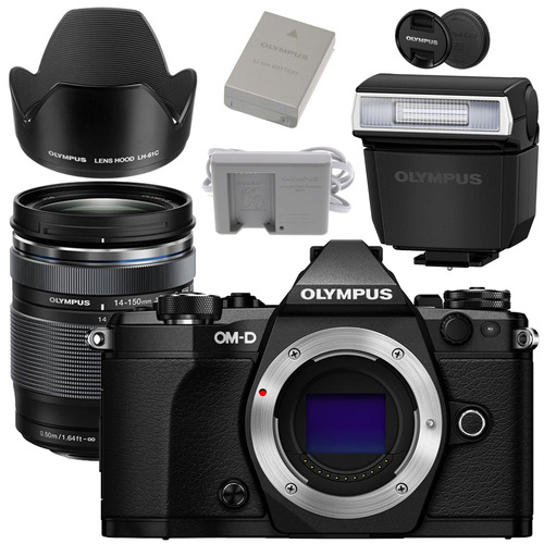 Olympus E-M5 Mark II Weatherproof Kit with ED 14-150mm F4.0-5.6 II Lens (Black)