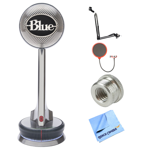 BLUE MICROPHONES Nessie Adaptive USB Microphone w/ Accessories Bundle