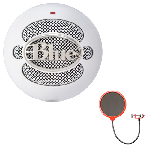 BLUE MICROPHONES Snowball iCE Condenser Microphone, Cardioid w/ Pop Shield Wind Screen