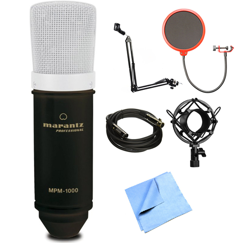 Marantz Studio Series 18mm Large Diaphragm Condenser Microphone w/ Stand Bundle