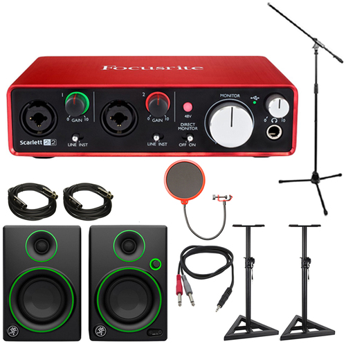 Focusrite Scarlett 2i2 USB Audio Interface (2nd Gen) w/ Speaker Bundle