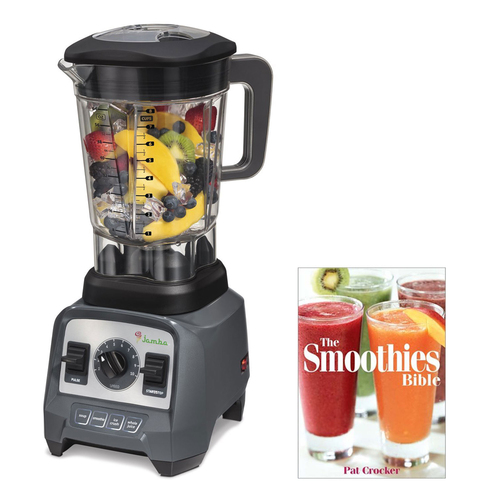 Jamba Appliances 2.4 hp Blender with 64 oz Jar, Grey with Smoothie Recipe Book